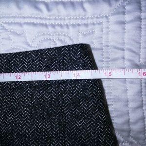 LOFT Skirts - LOFT Herringbone Classic Black Mini Skirt, size 2